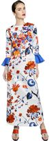 Antonio Marras Embellished Printed Cotton Satin Dress