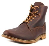 J Shoes Fellow Men Round Toe Leather Brown Ankle Boot.