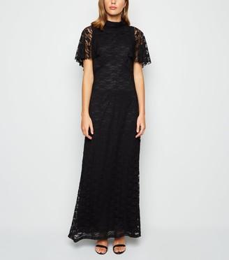 New Look Mela Lace High Neck Maxi Dress