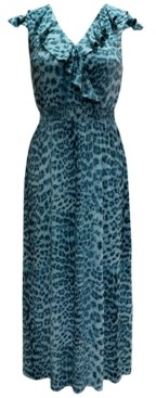 INC International Concepts Inc Ruffled Surplice Maxi Dress, Created for Macy's