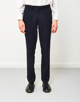 Farah Denby Rigid Hopsack Trousers Navy