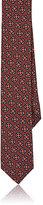 Lanvin Men's Medallion-Print Silk Skinny Necktie-RED