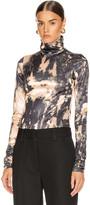 Acne Studios Eryn T Shirt in Beige & Green | FWRD