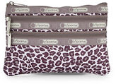 Lesportsac Three-Zip Cosmetic Pouch