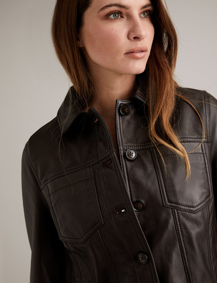 Marks and Spencer Leather Trucker Jacket