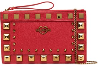 Love Moschino Studded Clutch Bag