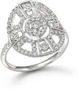 Meira T 14K White Gold Antique Inspired Diamond Ring