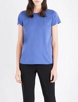 Armani Collezioni Cap-sleeved stretch-silk-chiffon top