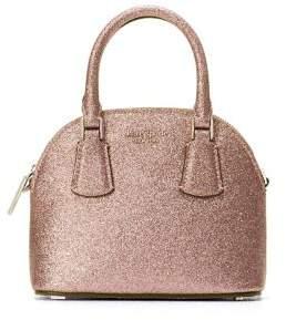Kate Spade Mini Sylvia Dome Glitter Leather Bag