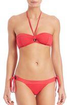 Proenza Schouler Two-Piece Grommet Bandeau Bikini
