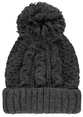 Bobble George Grey Knitted Hat