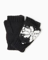 Charming charlie Snowflakes & Rhinestones Flip Gloves