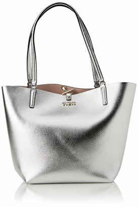 GUESS Alby Toggle Tote Satchel Women's Bags One Size Size: 43x30x15 cm