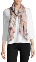 Lord & Taylor Fraas Plaid Printed Scarf