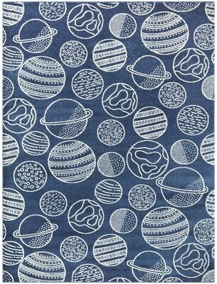 "Zoomie Kids Ottawa Blue Area Rug Rug Size: Rectangle 5'3"" x 7'"