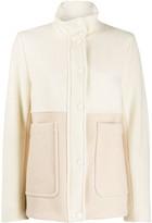 Sportmax two tone funnel neck jacket