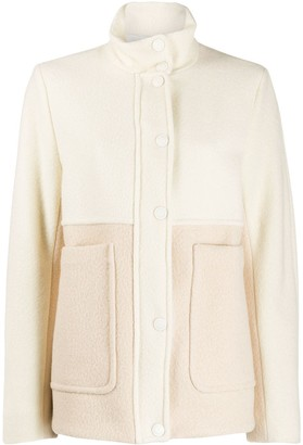 Sportmax Two Tone Funnel Neck Jacket