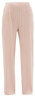 Pleats Please Issey Miyake Straight-leg Pleated Trousers - Womens - Light Pink