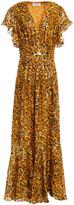 Thumbnail for your product : BA&SH Gemma Wrap-effect Leopard-print Fil Coupe Silk-blend Maxi Dress