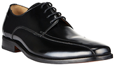 John Lewis Albert Tramline Leather Derby Shoes, Black