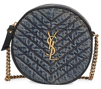 Saint Laurent Nile Round Matelasse Denim Bag