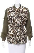 Sea Leopard Print Cargo Jacket
