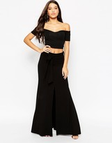 Asos Maxi Skirt with Tie Knot Waist and Splices
