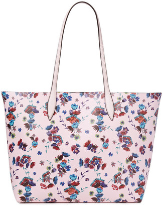 Rebecca Minkoff Heather Large Floral-print Faux Textured-leather Tote