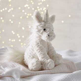 The White Company Jellycat Fuddlewuddle Unicorn Medium Toy , White, One Size