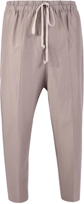Rick Owens Astaires Cotton And Silk Trousers
