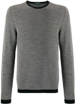 Zanone contrast trimmed relaxed-fit jumper