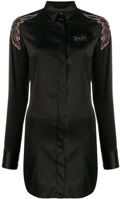 Philipp Plein cowboy shirt dress