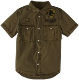 Diesel Poplin Button Front w/Patches (Kids) - Army-4