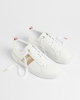 Ted Baker BAILY Leather metallic detail webbing trainers