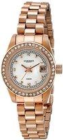 Akribos XXIV Women's AK489RG Diamond Quartz Rose-Tone Stainless Steel Bracelet Watch