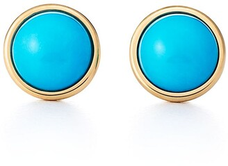 Tiffany & Co. Elsa Peretti Color by the Yard earrings in 18k gold with turquoise cabochons