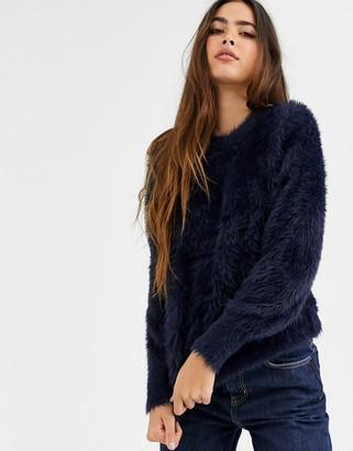 B.young fluffy sweater