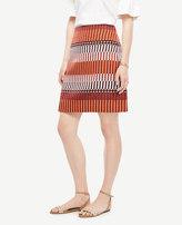 Ann Taylor Mixed Stripe Skirt