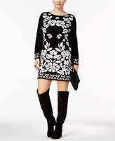 NY Collection Petite Plus Size Jacquard Sweater Dress
