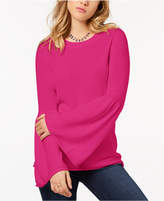 Kensie Crew-Neck Bell-Sleeve Sweater