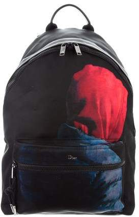 Christian Dior Printed Nylon Backpack