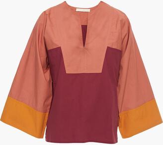 Vanessa Bruno Nam Color-block Cotton-poplin Top