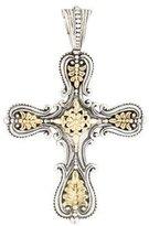 Konstantino Two-Tone Granulated Cross Pendant