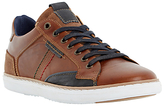 Dune Tailored1 Side Stitch Leather Trainers
