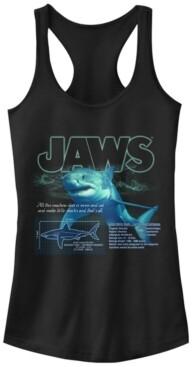 Fifth Sun Jaws Great Shark Description Print Ideal Racer Back Tank