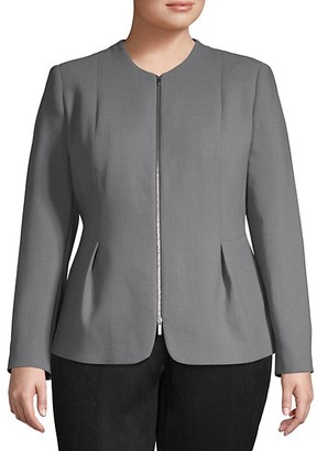 Lafayette 148 New York Plus Textured Wool Jacket