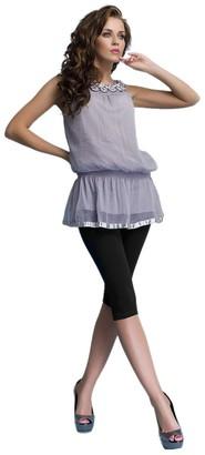 Ossa Fashion Women Cropped 3/4 Cotton Classic Leggings Basic Plain Capri Pants Sizes UK 8-16