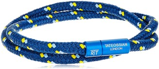 Tateossian Alum Nylon Blue 2 Strand Shoelace Sport Blue Medium Bracelet