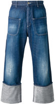 Loewe wide leg cropped jeans - men - Cotton - 42