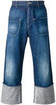 Loewe wide leg cropped jeans
